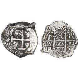 Potosi, Bolivia, cob 8 reales, 1741P, NGC VF 35.