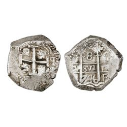 Potosi, Bolivia, cob 8 reales, 1746q, NGC AU 53.