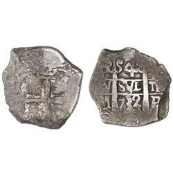 Potosi, Bolivia, cob 4 reales, 1732M.