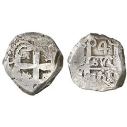 Potosi, Bolivia, cob 4 reales, 1761(V)-Y.