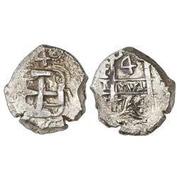 Potosi, Bolivia, cob 4 reales, 1764V-Y.