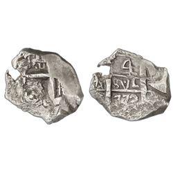 Potosi, Bolivia, cob 4 reales, 1772V-Y.