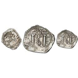 Bogota, Colombia, cob 4 reales, 1652, assayer PoR.