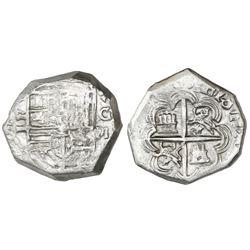 Granada, Spain, cob 2 reales, (16)03M, rare.