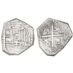 Granada, Spain, cob 2 reales, 1603M, rare.