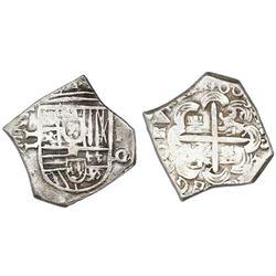 Granada, Spain, cob 2 reales, 1605M, rare.