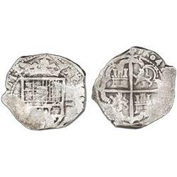 Toledo, Spain, cob 2 reales, 1604(C ).