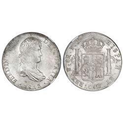 Potosi, Bolivia, bust 8 reales, Ferdinand VII, 1813PJ, NGC MS 62.