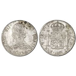 Potosi, Bolivia, bust 8 reales, Ferdinand VII, 1814PJ.