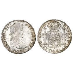 Potosi, Bolivia, bust 8 reales, Ferdinand VII, 1825JL.