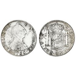 Potosi, Bolivia, bust 4 reales, Charles III, 1780PR.