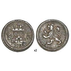 Potosi, Bolivia, 1/4 real, 1799, NGC XF 45.