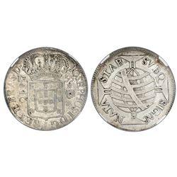 Brazil (Rio mint), 640 reis, Jose I, 1755, NGC XF details / cleaned.