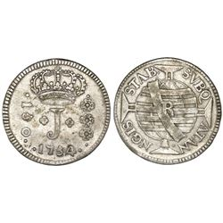 """Brazil (Rio mint), 150 reis, Jose I, 1754-R, """"ATAN NGIS"""" error, NGC VF 30."""