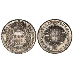 Brazil (Rio mint), 640 reis, Joao VI, 1821-R, NGC MS 61.