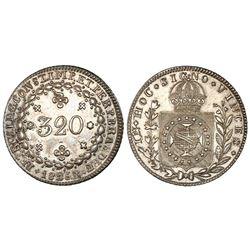 Brazil (Rio mint), 320 reis, Pedro I, 1825-R. NGC AU 55.
