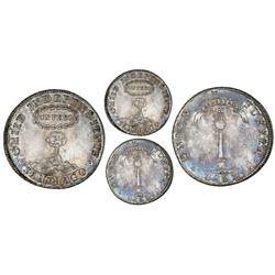 "Santiago, Chile, ""volcano"" peso, 1832I, PCGS AU55."