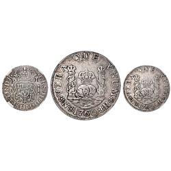 Bogota, Colombia, pillar 1 real, Charles III, 1760JV, NGC VF details / graffiti, ex-Emilio Ortiz, ex