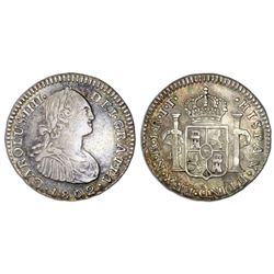 Bogota, Colombia, 1 real, Charles IV, 1802JJ, NGC VF 35.