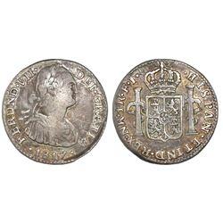 Bogota, Colombia, 1 real, Ferdinand VII, 1817FJ, NGC VF 25.