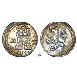Bogota, Colombia, 1/4 real, 1812.