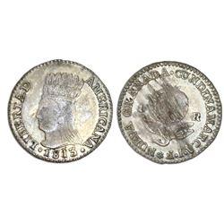 "Bogota, Colombia (Cundinamarca, ""Libertad Americana""), 1 real, 1813JF, NGC VF 35."