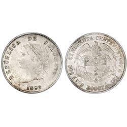 Bogota, Colombia, 50 centavos, 1888, PCGS AU55, ex-Eldorado.