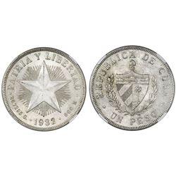 Cuba, peso, 1932, NGC MS 62.