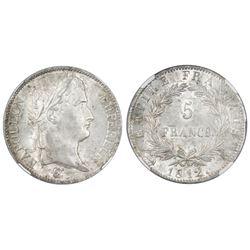 France (Rouen mint), 5 francs, Napoleon, 1812-B, NGC MS 63.