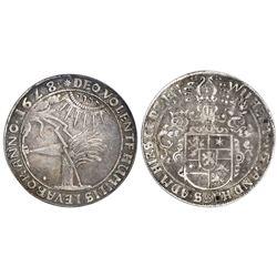 "Hesse-Cassel (German States), 1 taler, Wilhelm V, 1628TS, ""Jehovah taler,"" NGC VF 25, ex-Cassel."