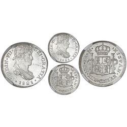 Guatemala, bust 1 real, Ferdinand VII, 1821M, NGC MS 64 PL.