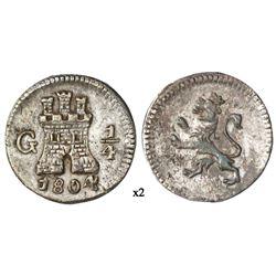 Guatemala, 1/4 real, 1804.
