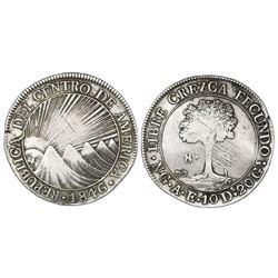 Guatemala (Central American Republic), 8 reales, 1846/2AE/MA, Z/S in CREZCA.