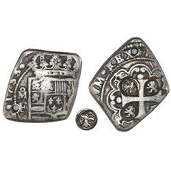 Quetzaltenango, Guatemala, 4 reales, Type I countermark (1838, rare) on cross side of a Mexico City,
