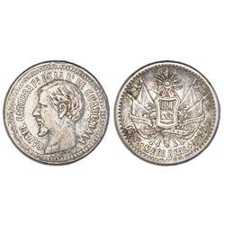 Guatemala, 1/2 real, 1859, NGC VF 30.