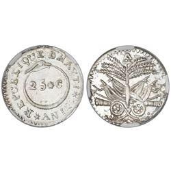 Haiti, 25 centimes, An 12 (1815), NGC AU 58, ex-Rudman (stated on label).