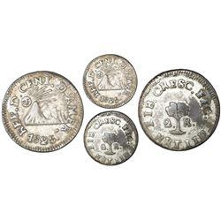 Tegucigalpa, Honduras (Central American Republic), 2 reales, 1825NR, NGC VF 25, Coins of the World P