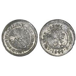 Tegucigalpa, Honduras, low silver 4 reales (provisional), 1849G, NGC VF 30.