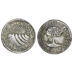 Tegucigalpa, Honduras, low silver 2 reales (provisional), 1839F, rare, NGC VF details / tooled, ex-R