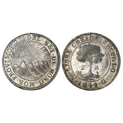 Tegucigalpa, Honduras, low silver 2 reales (provisional), 1844G, CREZCA, NGC XF 40.