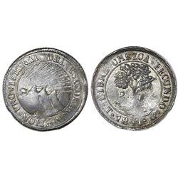 Tegucigalpa, Honduras, low silver 2 reales (provisional), 1847/5G, NGC VF 35.