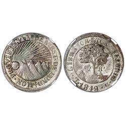 Tegucigalpa, Honduras, low silver 2 reales (provisional), 1848G, NGC VF 35.