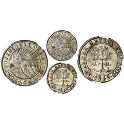 Tegucigalpa, Honduras, low silver 2 reales (provisional), 1848G, CREZUA error, NGC AU 58, finest and