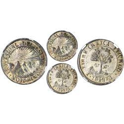 Tegucigalpa, Honduras, low silver 2 reales (provisional), 1848G, PROVISIONL error, NGC AU 53, finest