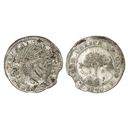 Tegucigalpa, Honduras, low silver 1 real (provisional), 1839F.