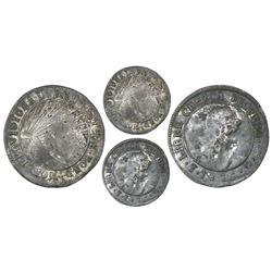 Tegucigalpa, Honduras, low silver 1 real (provisional), 1846G, rare, NGC VF details / environmental