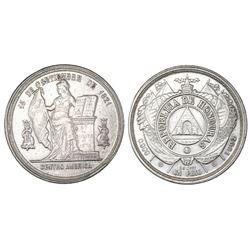Honduras, 1 peso, 1902, NGC AU details / cleaned.