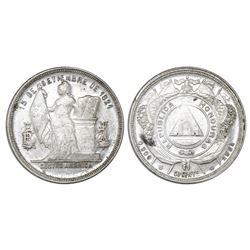 Honduras, 50 centavos, 1884, NGC AU 58.