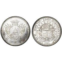 Honduras, 25 centavos, 1871.