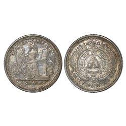Honduras, 25 centavos, 1884, NGC AU 53.